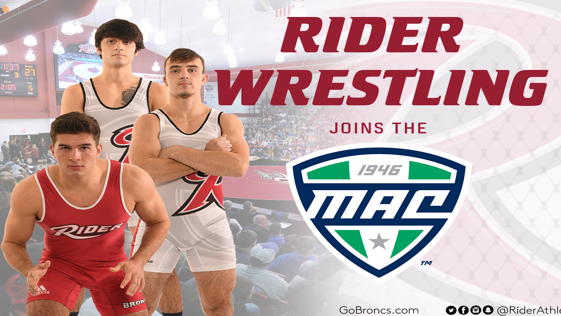 b29122e7715fbb Rider Wrestling Joins Mid-American Conference in 2019-20 - Rider ...